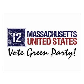 Vintage Massachusetts del Partido Verde del voto e Postales