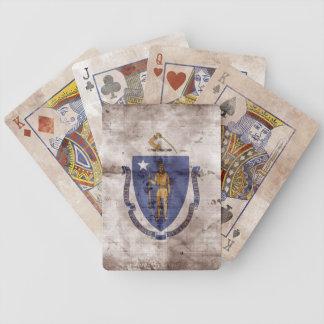 Vintage Massachusetts Flag Playing Cards