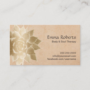 Massage therapy business cards templates zazzle vintage massage therapy gold lotus business card fbccfo Images
