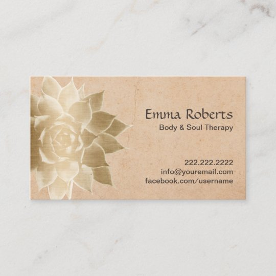 Vintage massage therapy gold lotus business card zazzle vintage massage therapy gold lotus business card colourmoves