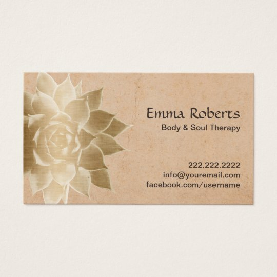 vintage massage therapy gold lotus business card zazzle com