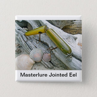 Vintage Masterlure Jointed Eel Button