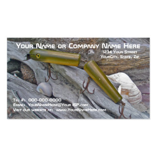Vintage Masterlure Jointed Eel Saltwater Plug Business Card