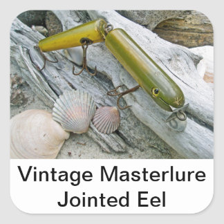 Vintage Masterlure Jointed Eel Square Sticker