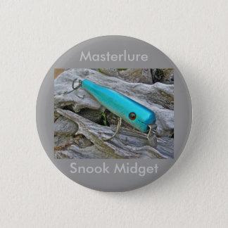 Vintage Masterlure Snook Multiple Items Pinback Button