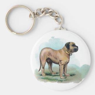 Vintage Mastiff Illustration Keychain