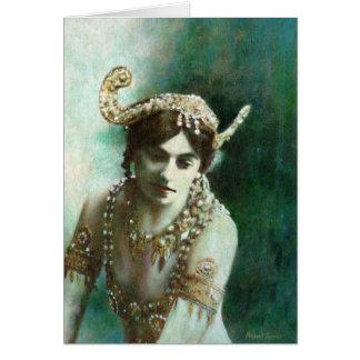 Vintage Mata Hari Greetings Card