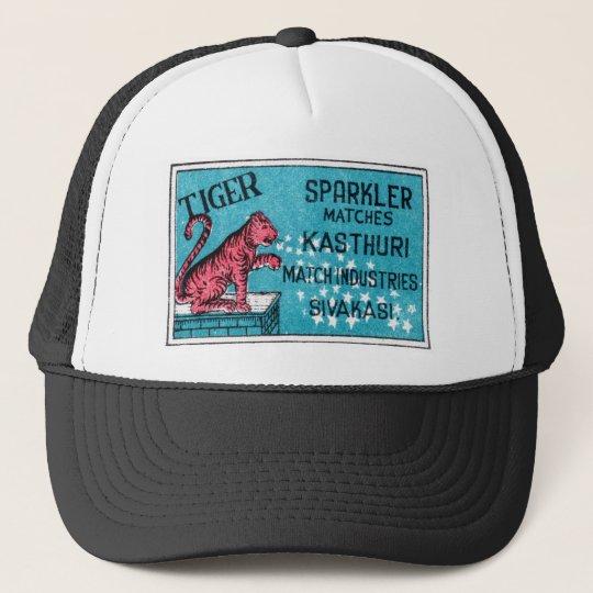Vintage Match Label- Tiger Sparkler Trucker Hat