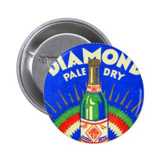 Vintage Matchbook Diamond Pale Dry Ginger Ale Button