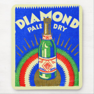 Vintage Matchbook Diamond Pale Dry Ginger Ale Mouse Pad