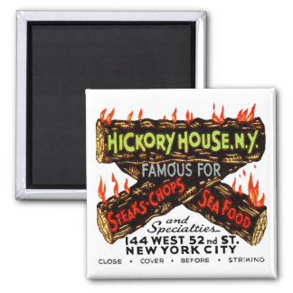 Vintage Matchbook Hickory House NY Steaks Chops Magnet