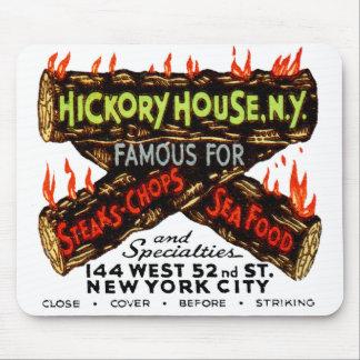 Vintage Matchbook Hickory House NY Steaks Chops Mousepads