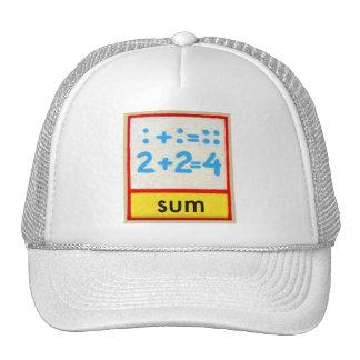 Vintage Math Kids Spelling Alphabet S is for Sum Trucker Hat