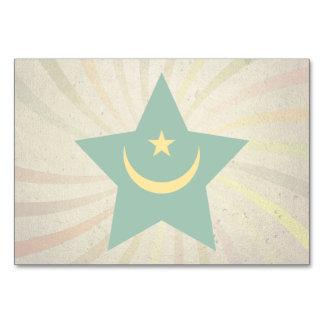 Vintage Mauritanian Flag Swirl Table Cards
