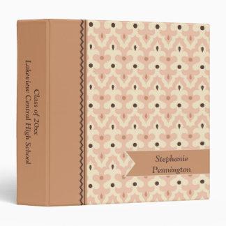 Vintage mauve pattern graduation memory binder