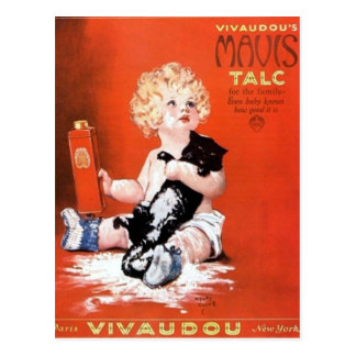 Vintage Mavis Talcum Powder Advertisement Postcard