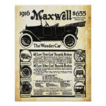 Vintage Maxwell Automobile Wonder Car Print