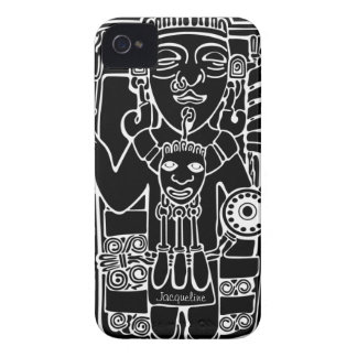 Vintage Mayan Totem Blackberry Case