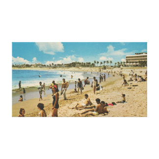 Vintage Mazatlan Beach Gallery Wrapped Canvas