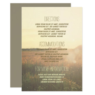 Vintage Meadow Wedding Details - Information Card