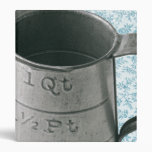 Vintage Measuring Cup Blue Personalized Recipe Binder