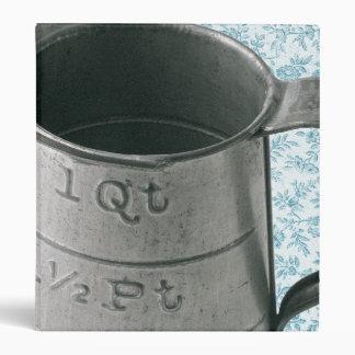 Vintage Measuring Cup Blue Personalized Recipe Binder