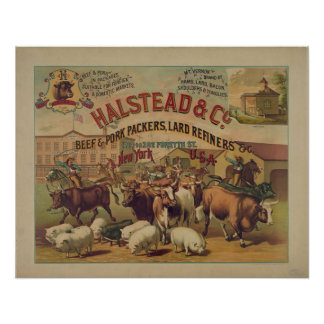 Vintage Meat Packers Poster
