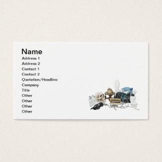 Vintage Medical Desk Items Business Card
