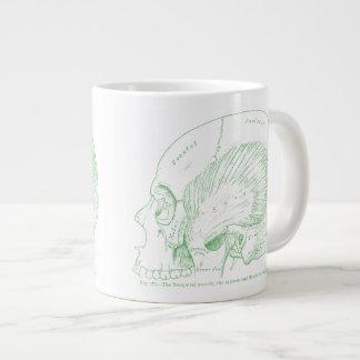 Vintage Medical Drawing Human Temporal Muscle Giant Coffee Mug