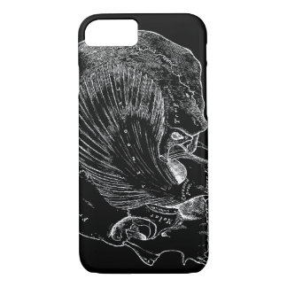 Vintage Medical Drawing Human Temporal Muscle iPhone 8/7 Case