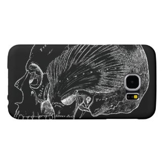 Vintage Medical Drawing Human Temporal Muscle Samsung Galaxy S6 Case