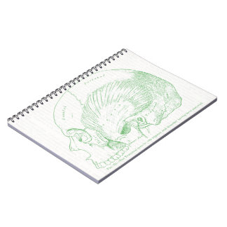 Vintage Medical Drawing Human Temporal Muscle Spiral Notebook