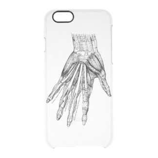 Vintage Medical Drawing Muscles of the Hand Clear iPhone 6/6S Case
