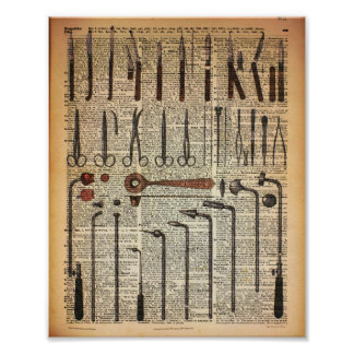 Vintage Medical Instruments Poster