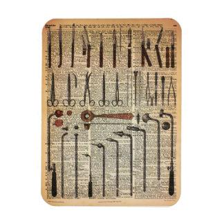 Vintage Medical Instruments Rectangular Photo Magnet