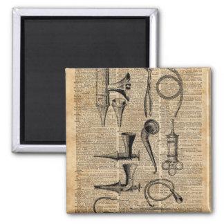 Vintage Medical Kits,Dictionary Art,Creepy,Decor 2 Inch Square Magnet