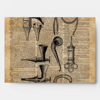 Vintage Medical Kits,Dictionary Art,Creepy,Decor Envelope