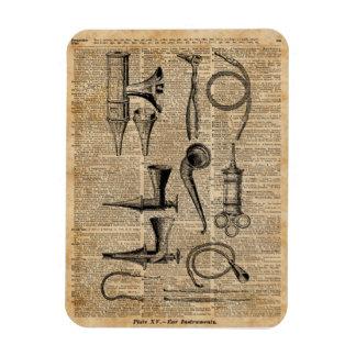 Vintage Medical Kits,Dictionary Art,Creepy,Decor Rectangular Photo Magnet