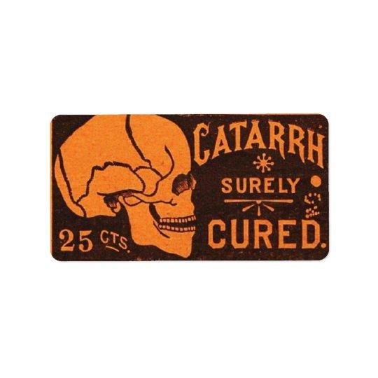 Vintage Medicinal Skull Label