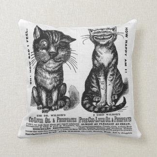 Vintage Medicine Cushion Throw Pillow