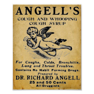 Vintage Medicine Print - Angells Cough Syrup