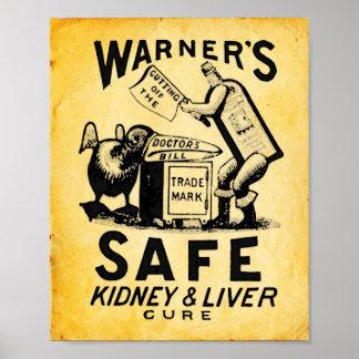 Vintage Medicine Print - Warner Safe Liver Cure