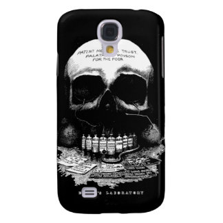 Vintage Medicine Skull and Drugs and Deaths Lab Galaxy S4 Cover