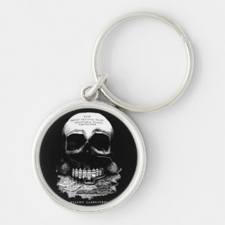 Vintage Medicine Skull and Drugs and Deaths Lab Key Chain