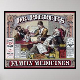 Vintage  Medicines: Dr. Pierce's Family Medicines Poster