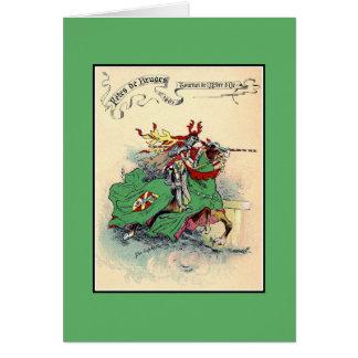 Vintage Medieval knights tournament Bruges Greeting Card