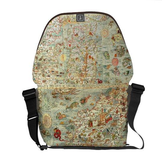 Vintage Medieval Map Bag