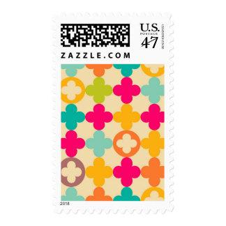 Vintage medieval rosette pattern postage stamp