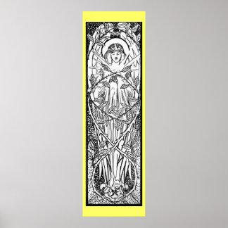 Vintage - Medieval Style Angel Poster