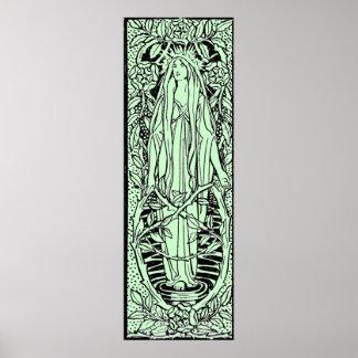 Vintage - Medieval Style Nature Spirit Posters